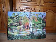 Obrazy - Krajina za riekou - 8475333_
