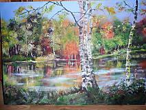 Obrazy - Krajina za riekou - 8475335_