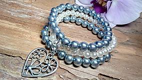 Náramky - Trojradový perlový náramok 15 - 8475833_