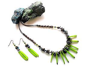 Sady šperkov - Tagua dientes verde - 8473587_