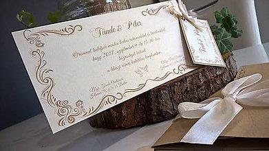 Papiernictvo - Svadobné oznámenie- T&P - 8472863_
