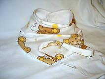 Detské doplnky - slintáčik myšky - 8475782_