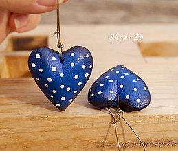 Náušnice - Heart dots / 3D - 8475822_