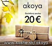 Darčekové poukážky - Darčekový poukaz 20 Eur - 8475482_