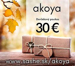 Darčekové poukážky - Darčekový poukaz 30 Eur - 8475540_