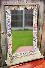 Zrkadlá - Veľké drevené zrkadlo - 8474852_