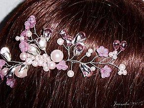 Ozdoby do vlasov - Hrebienok s korálkami - 8474693_