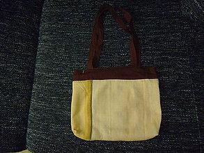 Veľké tašky - žltohnedá taška - 8474754_