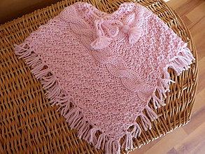 Detské oblečenie - pelerínka YETTA sv. ružová - 8476792_