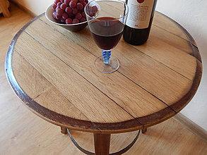 Nábytok - Sudový príručný stolík (Wine barrel side table) - 8478039_
