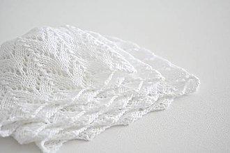 Detské čiapky - Pletená detská čiapka - biela - 8477331_