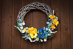 """Dekorácie - Kvetinový veniec """"Levanduľa"""" - 8478225_"""