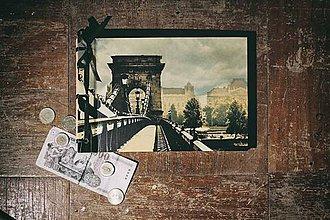 Papiernictvo - Fotoalbum klasický s autorskou ilustráciou ,, Budapešť,, - 8476317_