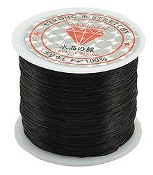 Galantéria - Gumička čierna 0,5 mm - 8476898_