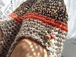 Obuv - oranž a perličky(č.38-39) - 8478377_