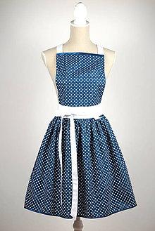 Iné oblečenie - Šatová zástera Blue dots - 8476244_