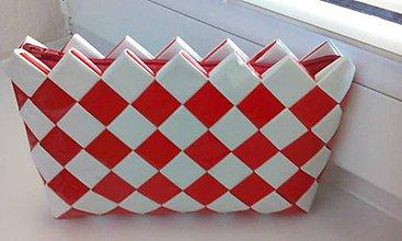 Peňaženky - Peňaženka bielo červena...:) - 8476638_