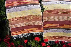 Úžitkový textil - Tkané koberce hnedo-oranžovo-žlté - 8476678_