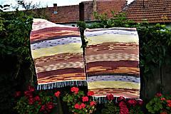 Úžitkový textil - Tkané koberce hnedo-oranžovo-žlté - 8476722_