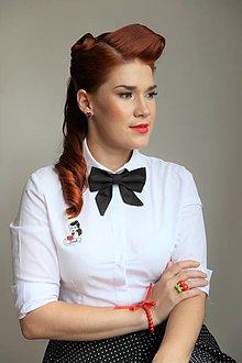 Náhrdelníky - Black bow tie (woman bow tie) - 8480447_