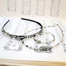 Sady šperkov - Golden-Grey Beads Set / Sada korálkových šperkov v zlato - šedej kombinácii - 8481495_