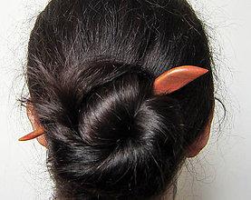 Ozdoby do vlasov - Drevená ihlica do vlasov - 8480360_