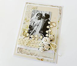 Papiernictvo - pohľadnica svadobná - 8479129_