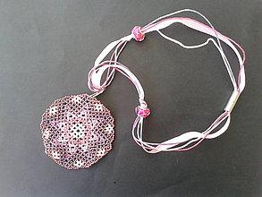 Náhrdelníky - medailón ružový - 8479041_