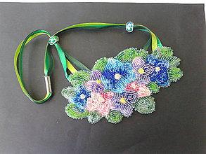 Náhrdelníky - kvety - 8479046_
