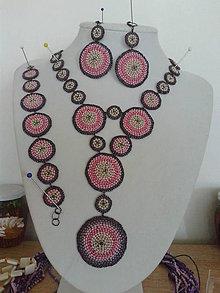Sady šperkov - sada fialová - 8479050_
