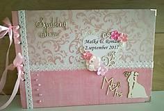 Papiernictvo - ružový sen_ svadobný album - 8481986_