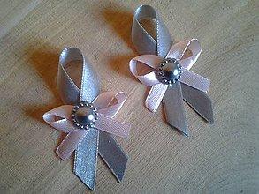 Pierka - svadobné pierko šedo-ružové - 8481183_