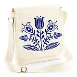 Iné tašky - Taška na plece kvety - ľudový motív - 8480458_