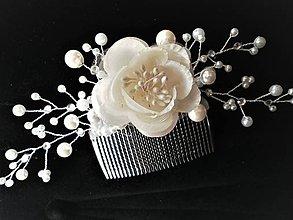 Ozdoby do vlasov - Svadobný hrebienok do vlasov - 8481831_