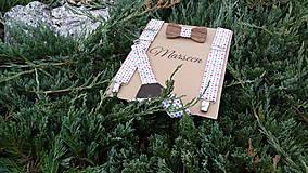 Detské doplnky - Detský set - drevený motýlik a traky - 8479633_