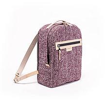 Batohy - Backpack Tweedy pink - 8481436_
