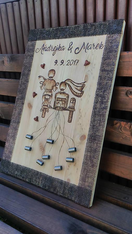 2a1aaad6b Drevená tabuľa na peňažné dary od svadobných hostí / cedulkovo ...