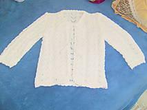 Detské oblečenie - Detský pletený svetrík - 8479638_