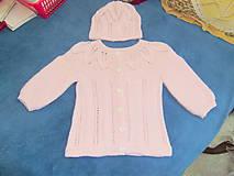 Detské oblečenie - Pletená detská supravička - 8479756_