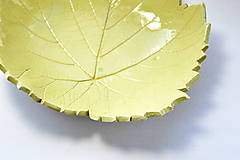 Nádoby - Keramická miska Lístok z hrozna - 8479397_