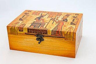 Krabičky - Tajovmný Egypt - šperkovnica/čajová krabica 6P - 8479556_
