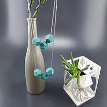 Náhrdelníky - 3D kolekce Geometrie I (náhrdelník + náušnice) - 8483262_