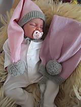 Detské čiapky - Pletena Merino čiapočka - 8482604_