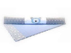 Textil - Dlhý úzky valec do postieľky Basic modrý 16x120cm - 8484490_