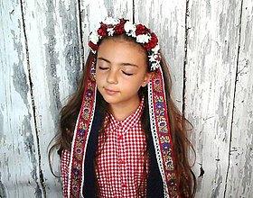 Ozdoby do vlasov - Svadobná parta -folk - 8482629_