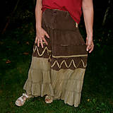 Sukne - Sukňa cik-cak indiánska - 8484586_