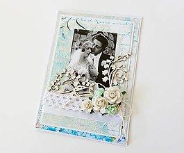 Papiernictvo - pohľadnica svadobná - 8482046_