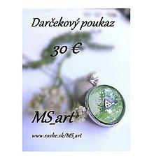 Darčekové poukážky - Darčekový poukaz v hodnote 30 eur - 8482863_