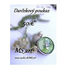 Darčekové poukážky - Darčekový poukaz v hodnote 50 eur - 8482887_
