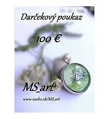 Darčekové poukážky - Darčekový poukaz v hodnote 100 eur - 8482912_
